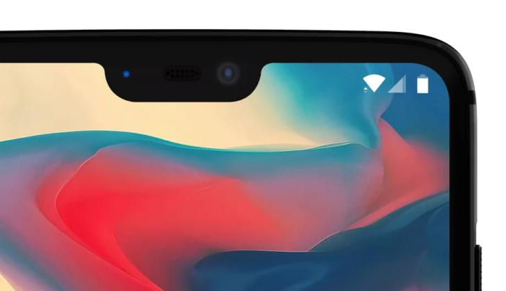 OnePlus 6 detajl výrezu