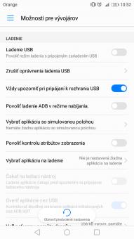 Funkcia Ladenie USB