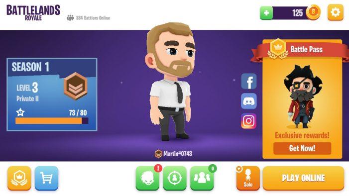 Výzor vášho charakteru sa zobrazí na úvodnej obrazovke, dole môžete vyberať aj herné módy