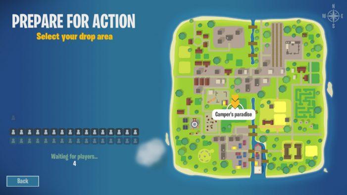 Na mapke sa dajú vybrať lokality, napríklad Cintorín, Kemping, alebo Železničná stanica