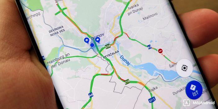 Google Mapy navigácia Bratislava