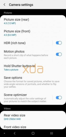 Nastavenia fotoaparátu