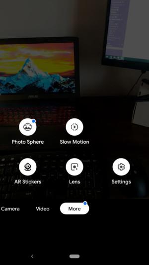 V ďalších možnostiach sa okrem iných objavila aj služba Google Lens