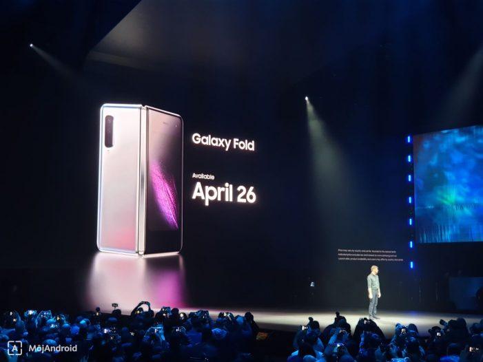 V štyroch farebných prevedeniach sa bude tak Galaxy Fold kúpiť za 1980 dolárov