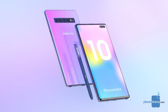 The Samsung Galaxy Note 10 features a 7nm Exynos processor