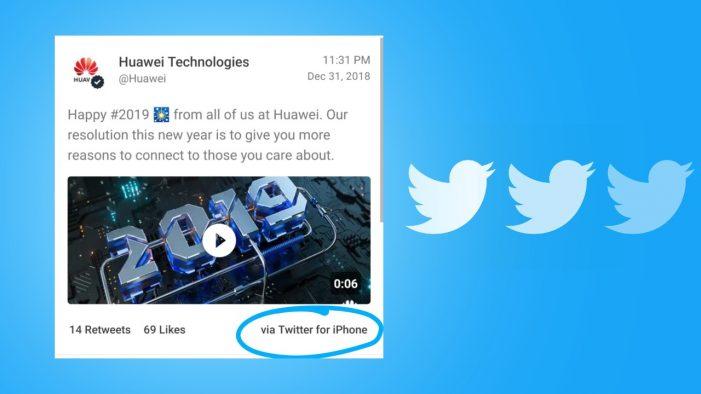 Tweety v mene značky Huawei cez iPhone boli veľkým interným škandálom