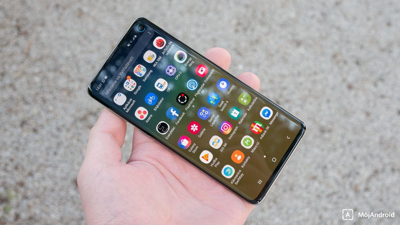 Samsung Galaxy S10 predná strana