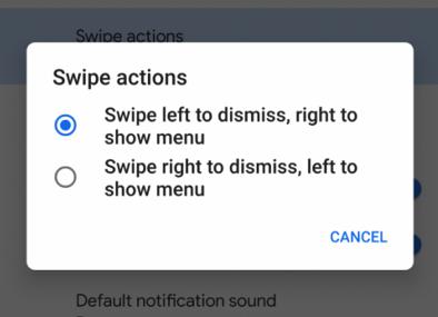 Android 10 notifikácie