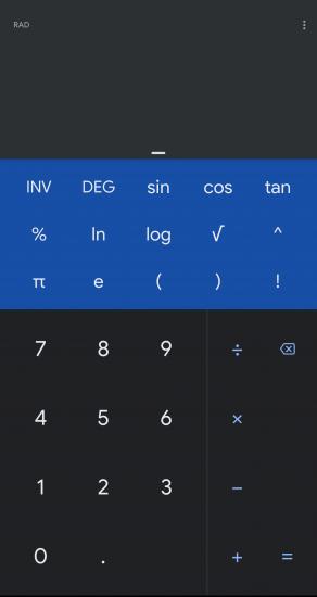 google kalkulačka tmavý motív 1