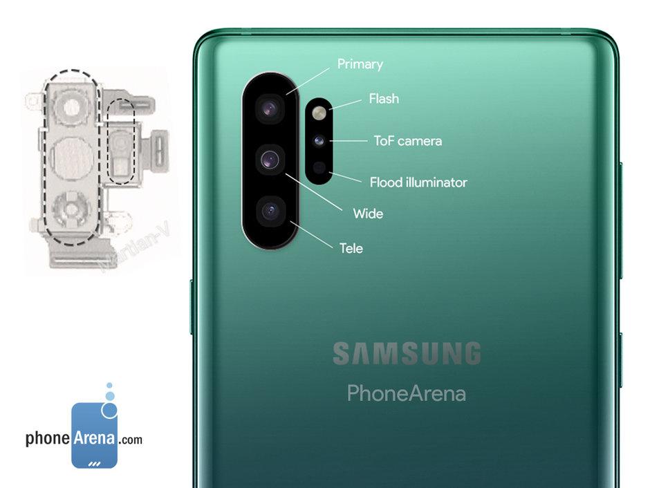 Samsung Galaxy Note 10 4 fotoaparáty