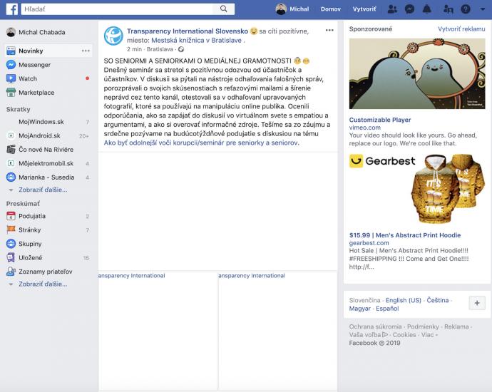 Facebook ma vypadok nenacitava obrazky