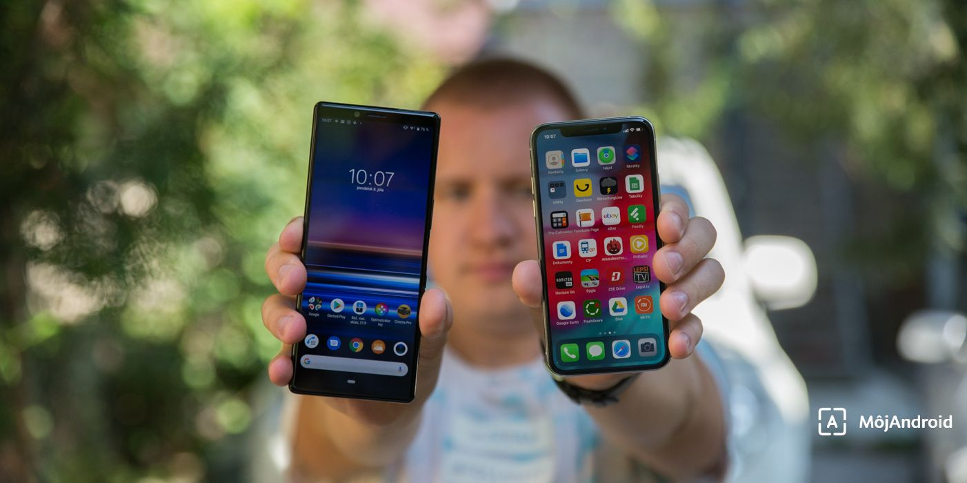 iPhone XS, Xperia 1