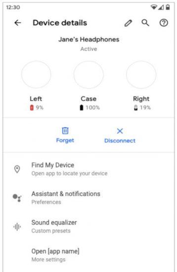 slúchadlá Android Q
