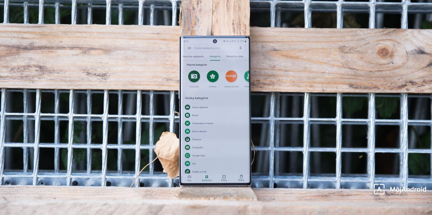 Samsung Galaxy Note 10+ material Google Play