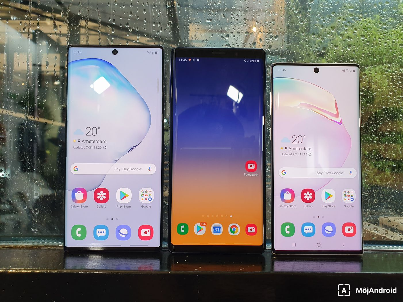 Samsung Galaxy Note 10+, Note 10 a Note 9