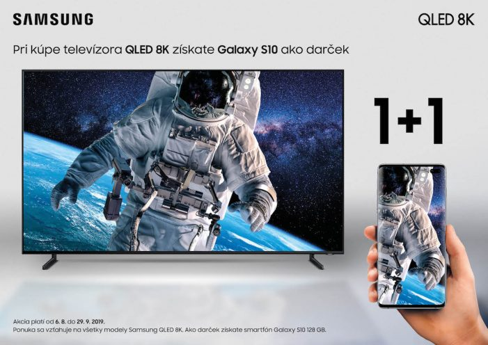 Samsung dava k televizorom QLED 8K zdarma smartfon Galaxy S10