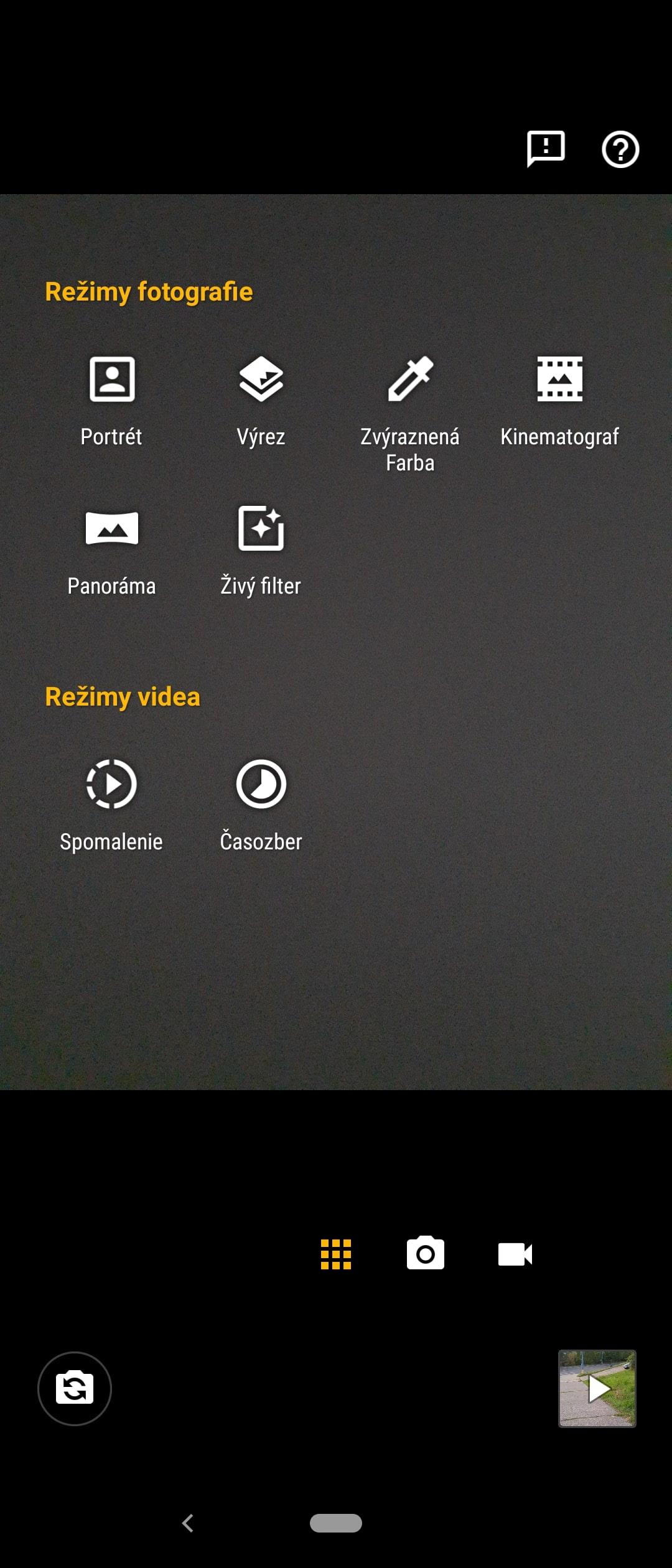 motorola one action rezimy fotoaparatu