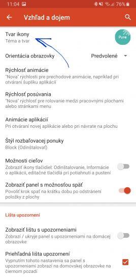 nova launcher navod tema ikon