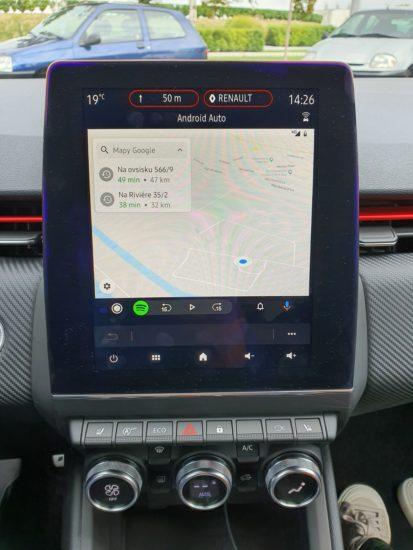 android auto navigácia