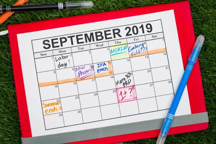 September 2019 kalendár