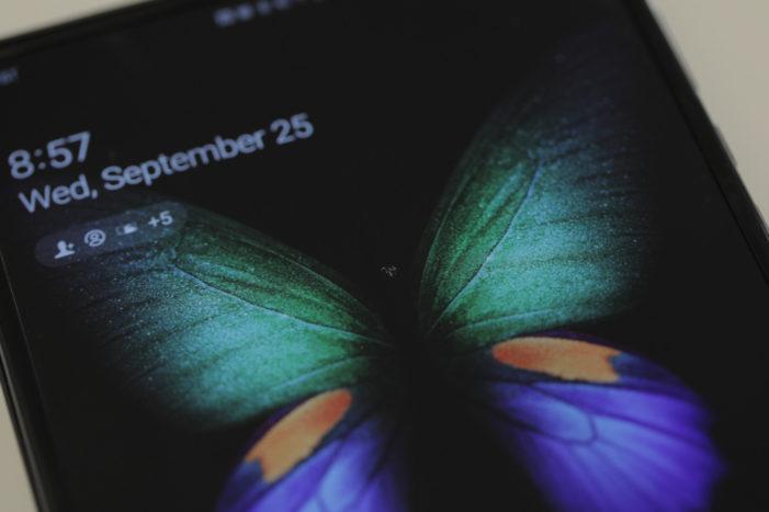 Samsung Galaxy Fold displej