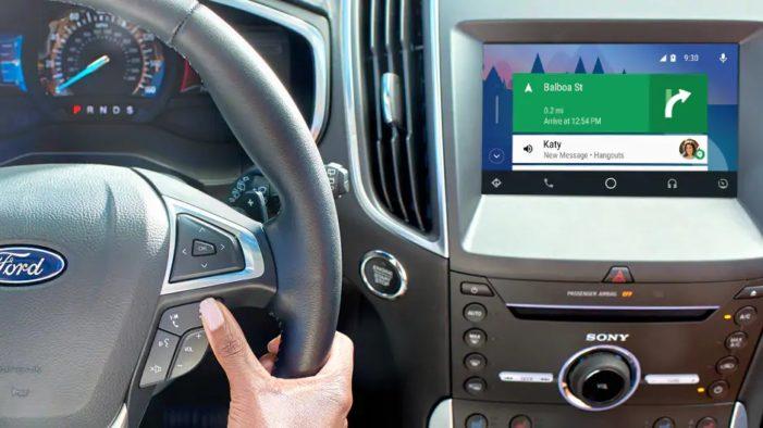 Ford Android Auto displej
