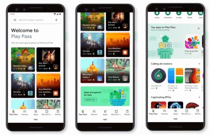 google play pass snímky obrazovky