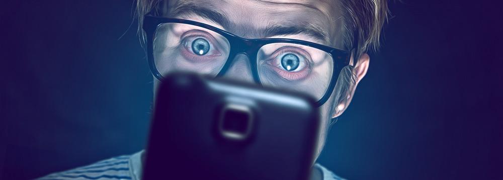 smartfóny bolesť očí