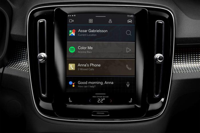 Plne elektrický infotainment Volvo XC40