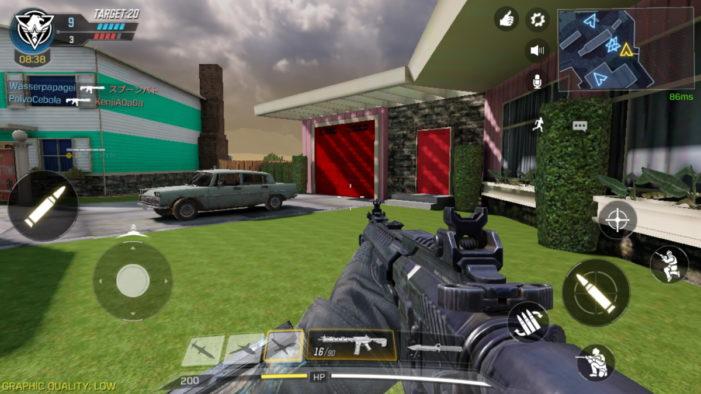Call of Duty ovládanie