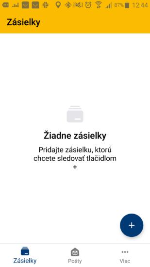 Slovenská pošta aplikácia 1