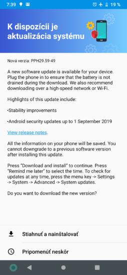 Motorola one zoom aktualizácia