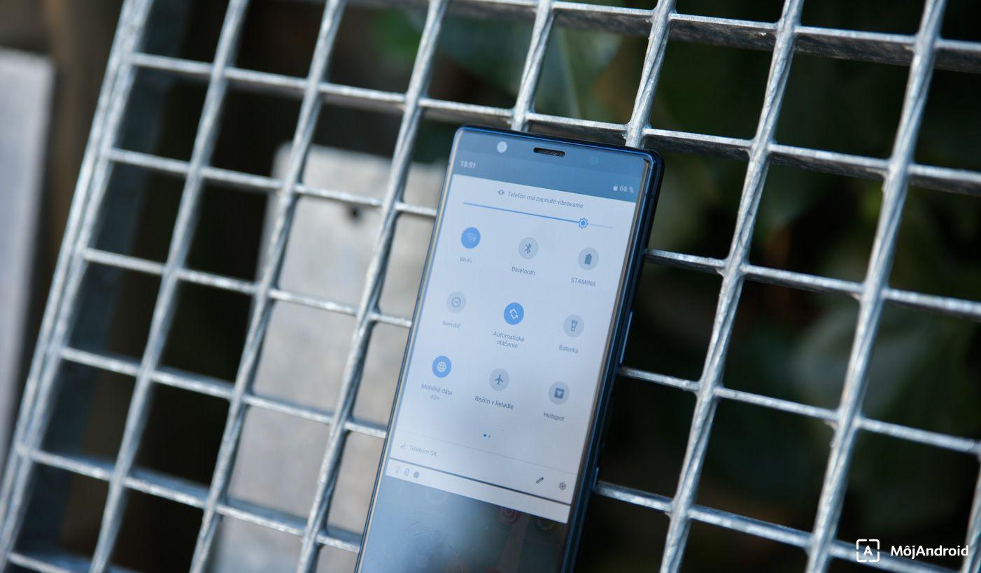Sony Xperia 5 notifikačná lišta
