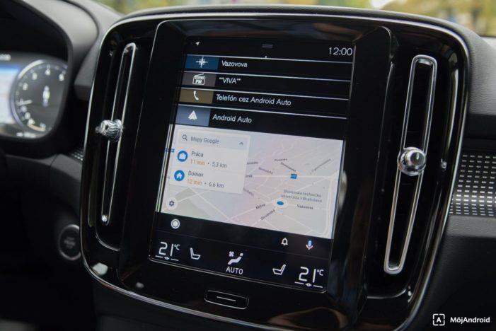 Volvo XC40 Android Auto navigácia