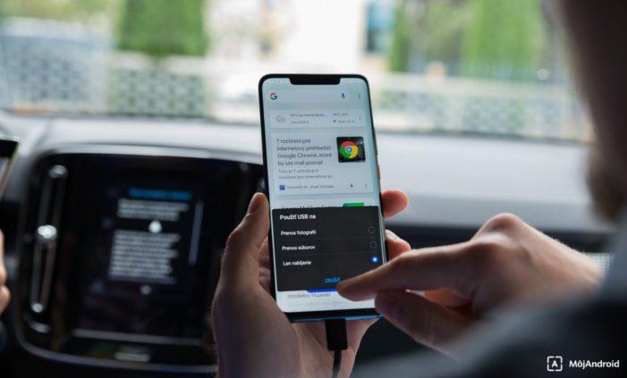 Volvo XC40 Android Auto pripojenie
