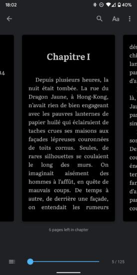 Google Play Books tmavý režim