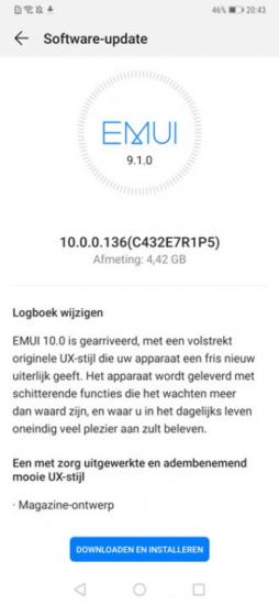 mate 20 pro screenshot android 10 update