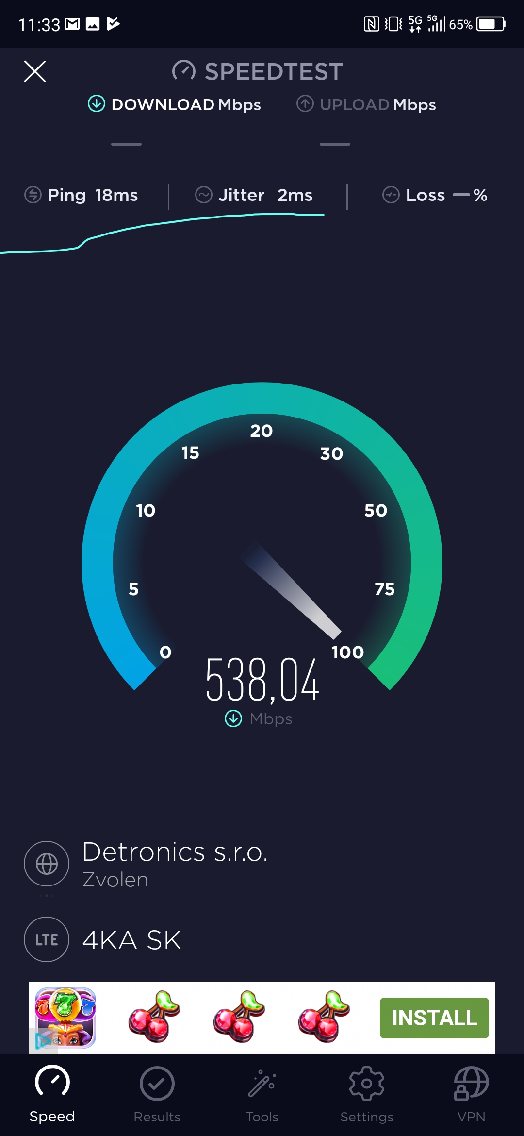 test 5G speedtest