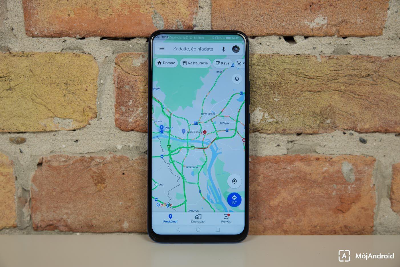HONOR 9X google mapy navigacia