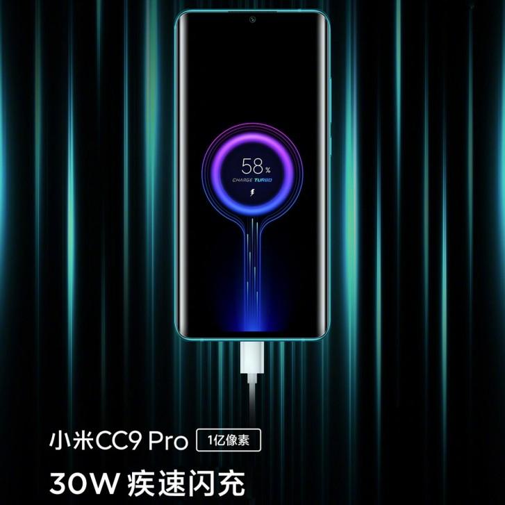 Xiaomi Mi CC9 Pro nabijanie bateria