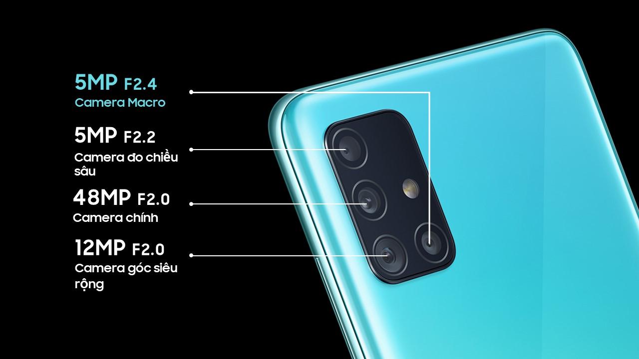 Samsung Galaxy A51 fotoaparát