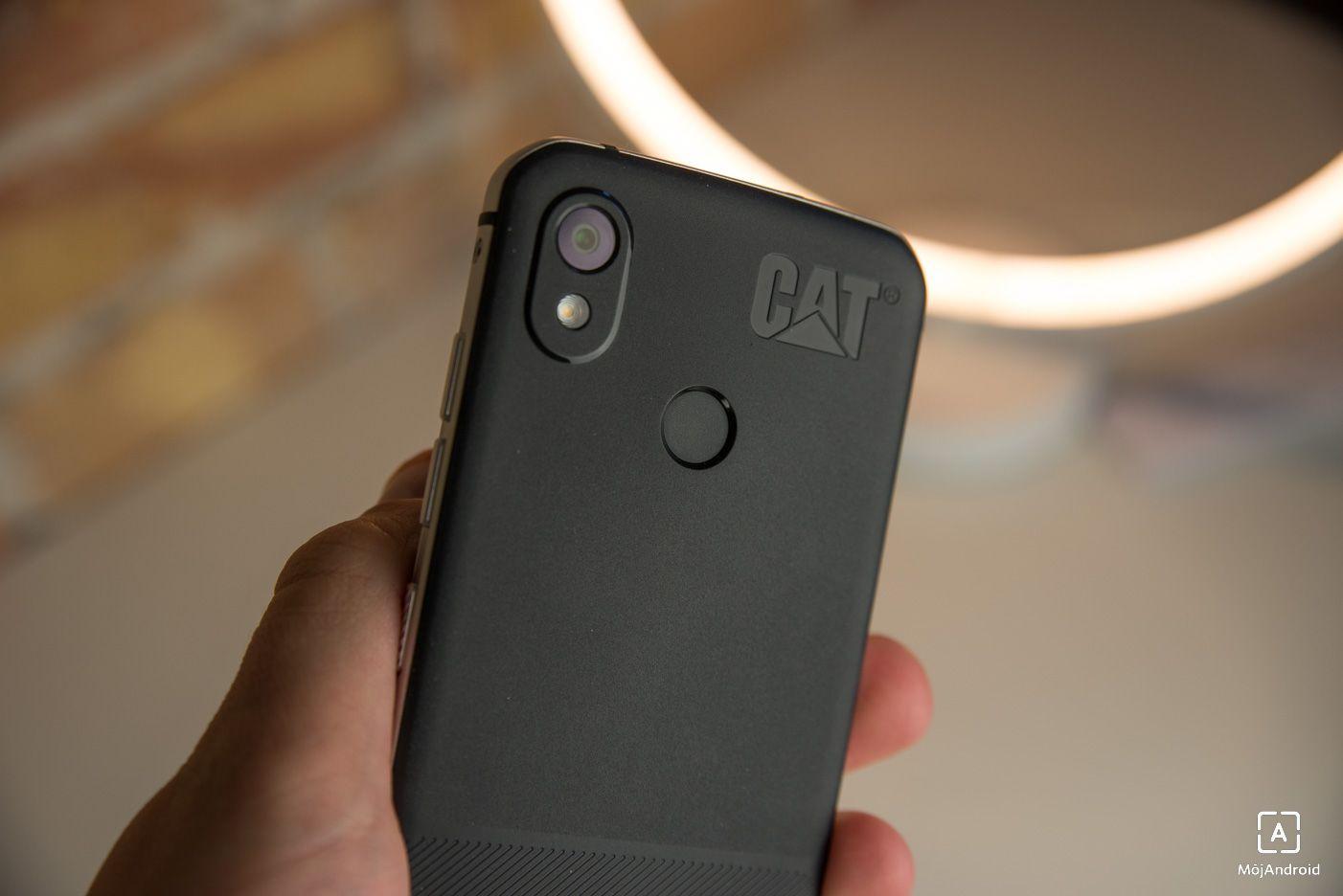 CAT S52 skener odtlackov prstov