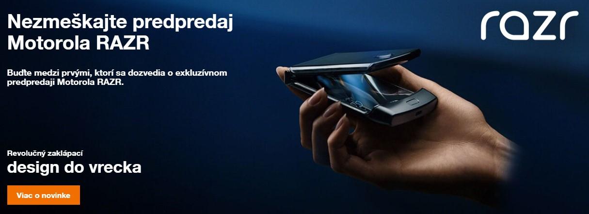 Motorola razr predobjednavky orange