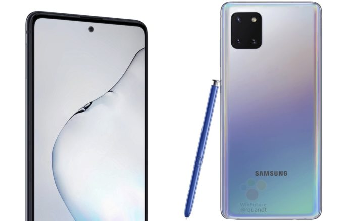 Samsung Galaxy Note 10 Lite dizajn 1