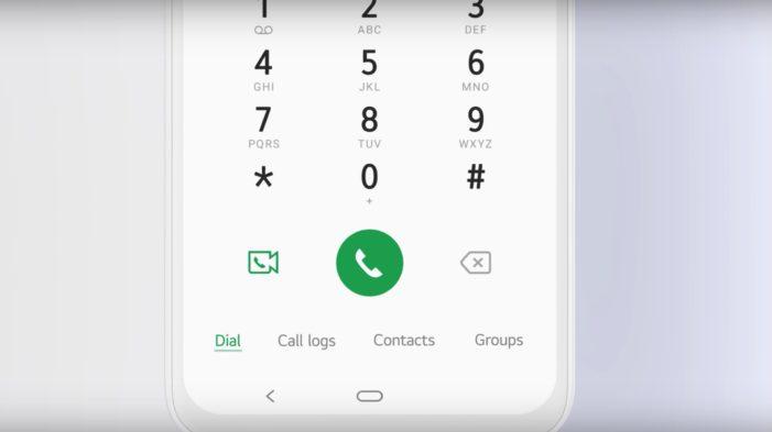 LG UX 9.0 dialer