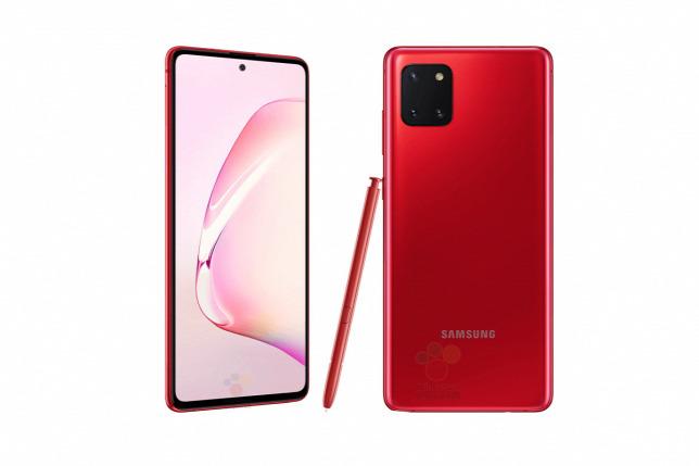 Samsung Galaxy Note 10 Lite červený