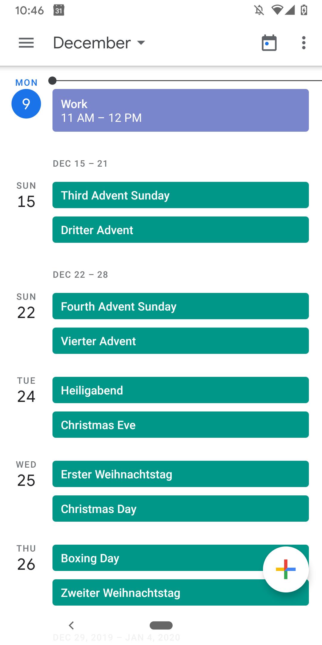 Google Kalendár udalosti 1