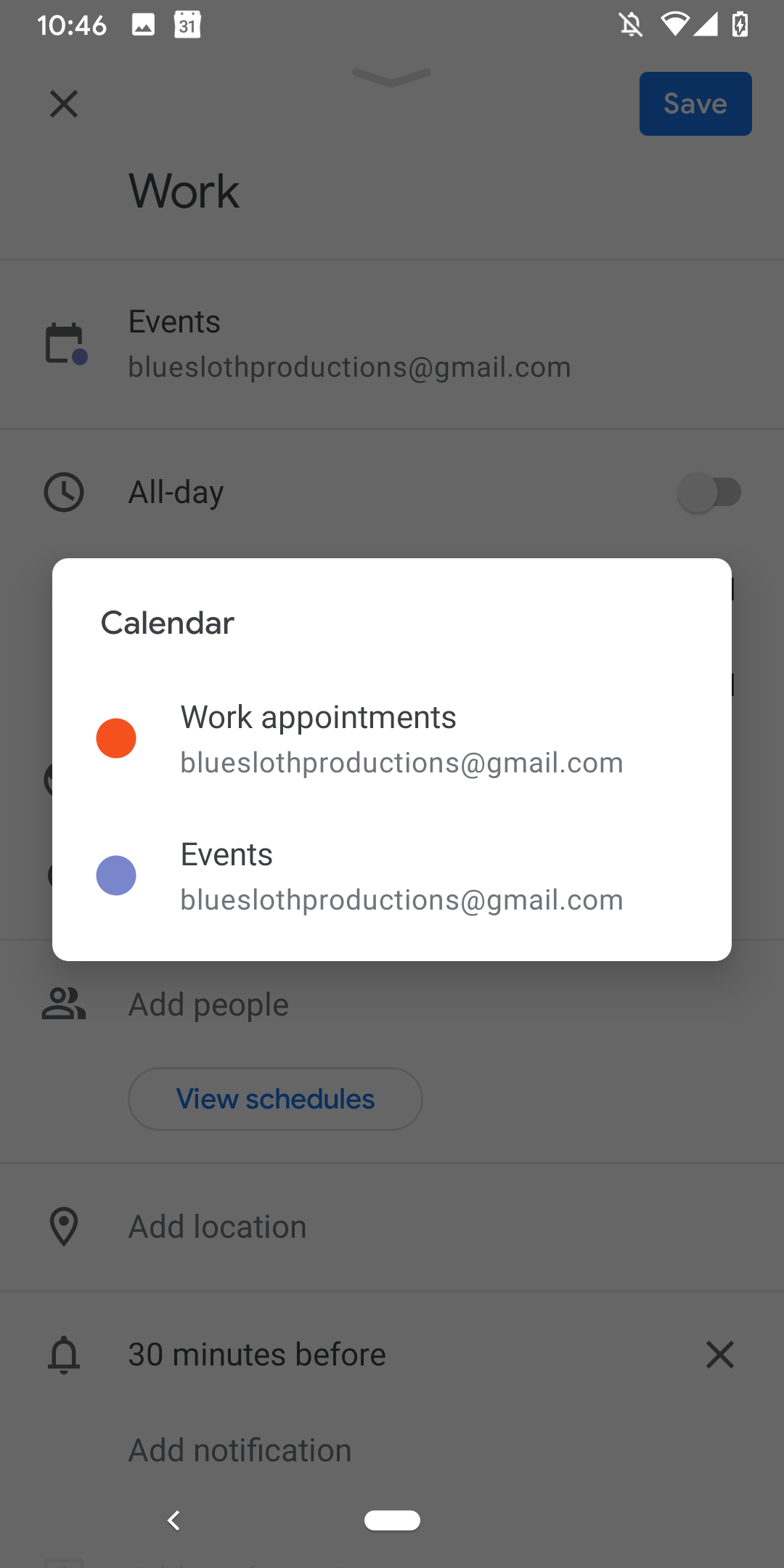 Google Kalendár udalosti 3