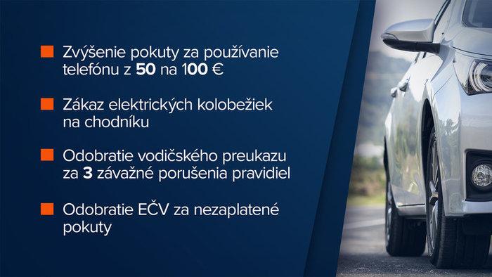 Zmeny v pravidlách cestnej premávky sumár