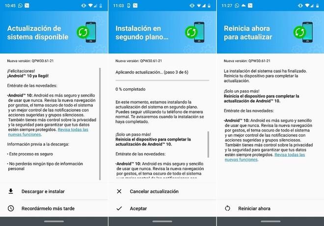 Motorola Moto G7 Plus Android 10
